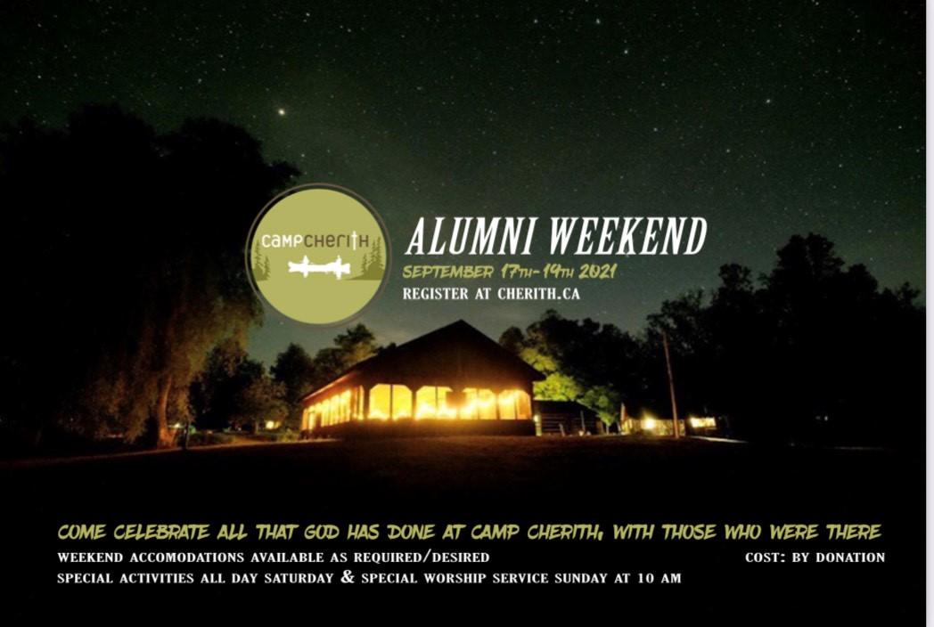 Cherith Alumni weekend graphic